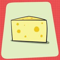 Block of Smelly Cheese vector