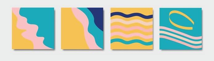 wavy abstract colorful pastel free vector