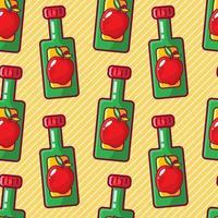 apple cider vinegar seamless pattern illustration vector