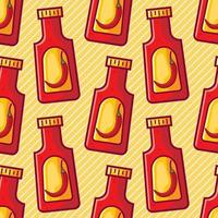 hot chili ketchup seamless pattern illustration vector