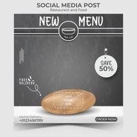 Food or culinary social media marketing template. vector
