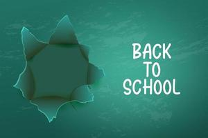 Back to school background with Realistic green chalkboard. vector