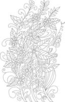 Coloring page Vector page for coloring. Flower Coloring page