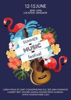 music festival poster for summer party vector