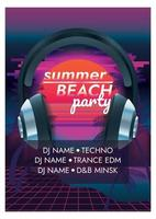 music festival poster for party summer beach party vector