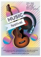 music night party music festival poster vector