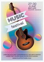 music festival poster for music party vector