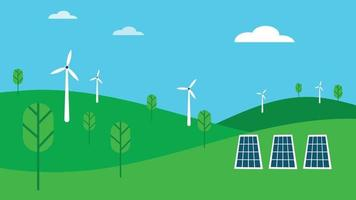 Renewable Energy Environment Illustration vector