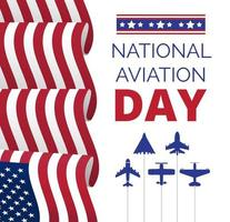 National Aviation Day in USA, celebrated in August. vector