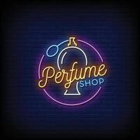vector de estilo de letreros de neón de tienda de perfumes