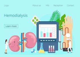 Tiny doctors treat kidneys. vector