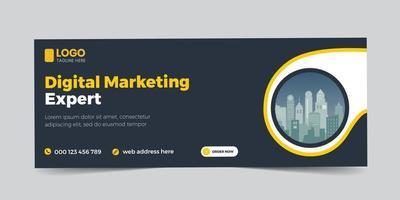 webinar cover banner template social media post vector