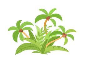 Jungle. Palm leaves. Summer vector illustration