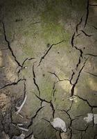 Dry mud soil due to drought photo