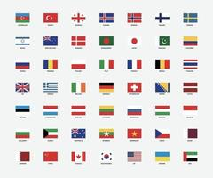 National flags of the world vector