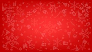Christmas object on red background vector illustration