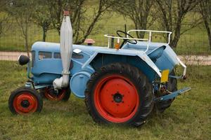 Old tractors in the French countryside photo