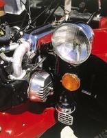 Detail of car engine photo