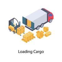 carga de contenedores de carga vector