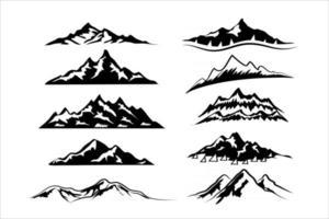 Snowy Mountain Peaks vector