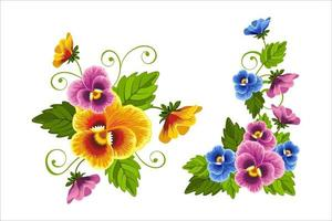 beautiful flower vector set eps 10