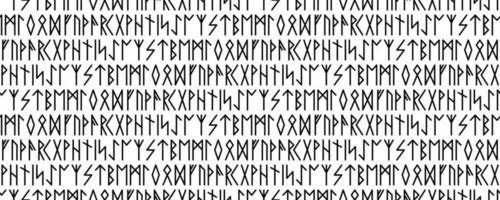 seamless pattern. Runic talismans. Magic and magical runes. vector