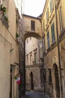 architecture of buildings and alleys in the country of Narni photo