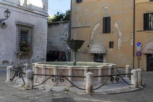 Fountain on the square of Priori in the center of Narni, Italy, 2020 photo