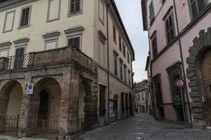 Buildings in the town of Nepi, Italy, 2020 photo