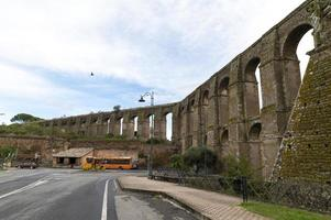 Roman aqueduct, the Bottata at the town of Nepi, Italy, 2020 photo