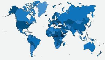 mapa del mundo de alto detalle vector