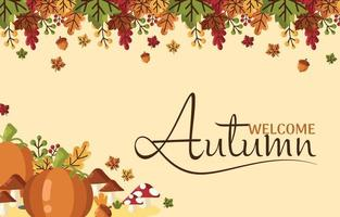 Welcome Autumn Background vector