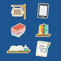 Literacy Stickers Collection vector