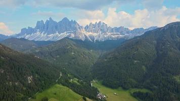 St Maddalena Val di Funes in Dolomites Italian Alps video