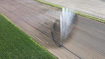 sistema de irrigação em terras agrícolas video