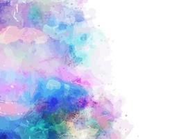 Lilac Watercolor Splash Border vector