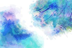 Blue Watercolor Page Splashes vector