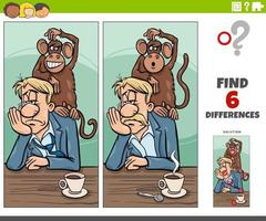 differences game with monkey on your back saying of proverb vector