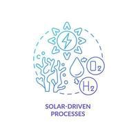 Solar energy concept icon vector