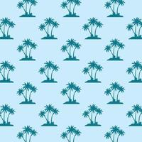 Flat palm trees seamless pattern vector