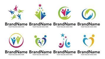 unity people care logo icon vector templare