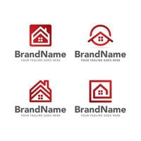 logo home real estate vector template