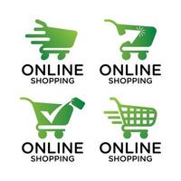 cart retail shopping online logo vector template