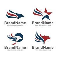 logo american eagle vector template