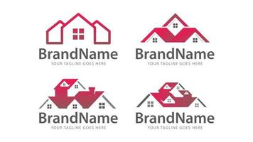 home real estate roof logo vector tmeplate