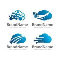 logo cloud technology vector template