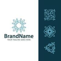 logo floral leaf concept vector template
