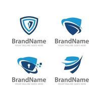 logo shield protection vector template