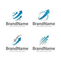 logo arrow growth modern vector template