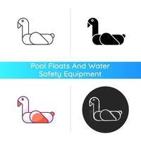 Animal pool float icon vector